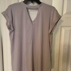 Grey express cutout shirt